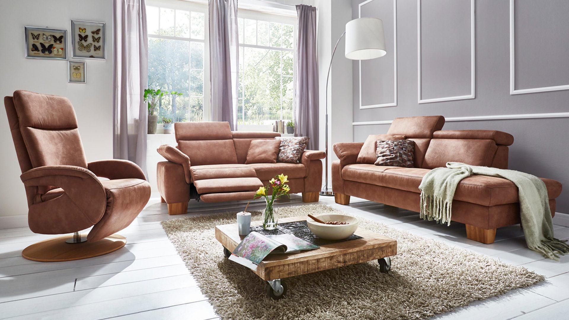 Wohnzimmer Sofa Braun