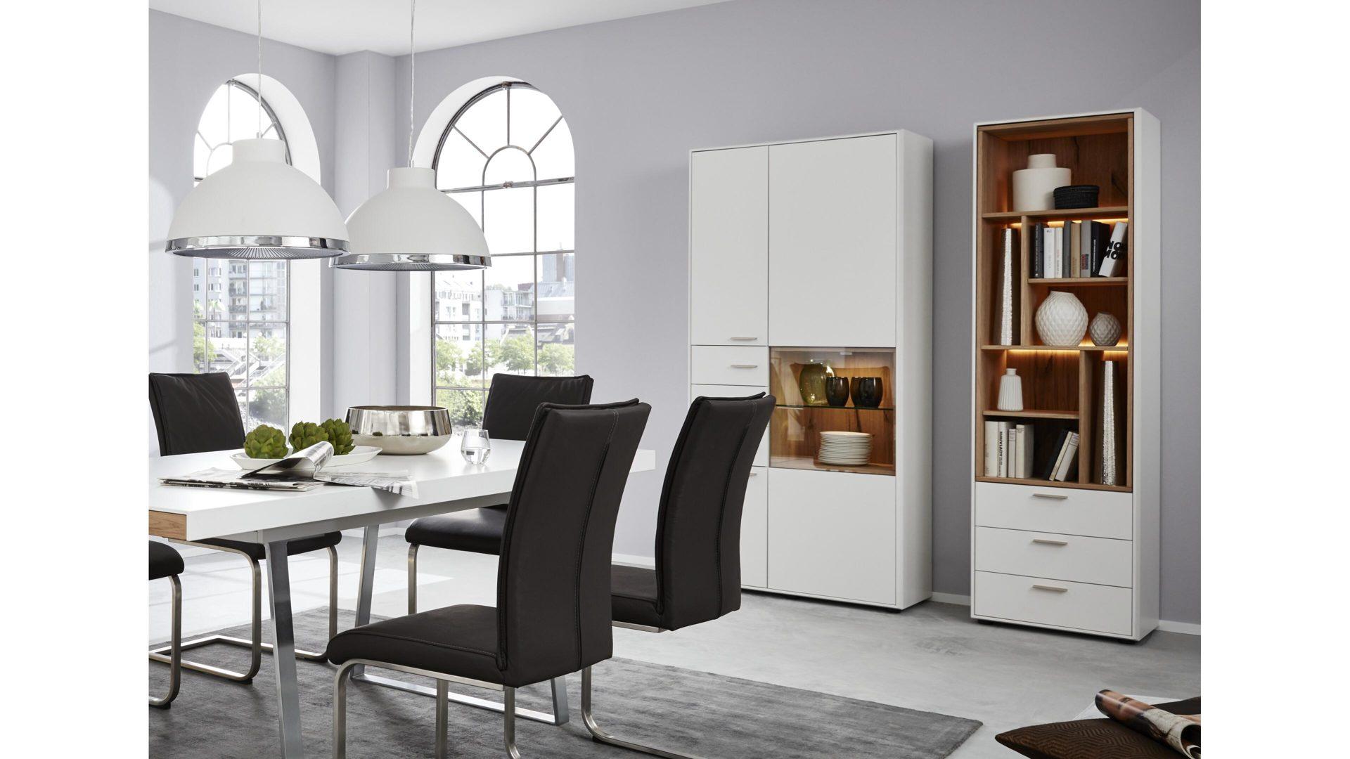 interliving wohnzimmer serie 2102 design regal mit schubladen